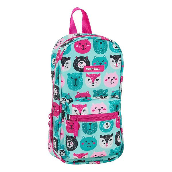 Pencil Case Backpack Safta dyr Lyseblå (33 Dele)