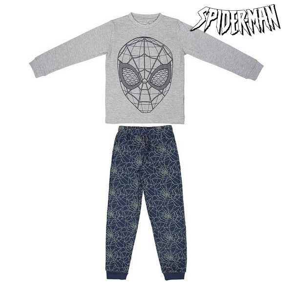 Nattøj Børns Spiderman 74807 Grå Blå (2 Pcs)