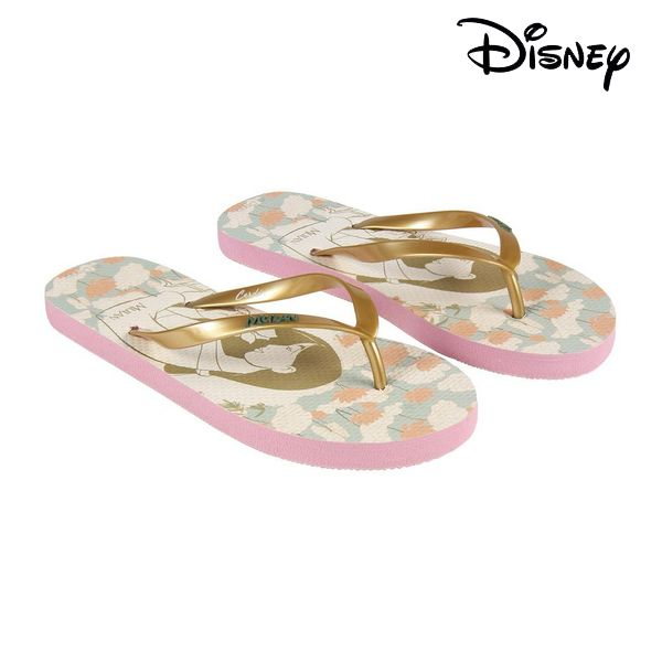 Klipklappere til damer Princesses Disney 74434 Beige Gylden