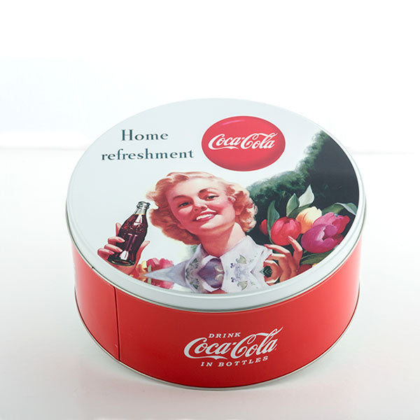 Coca-Cola Retro Rund Metal Box