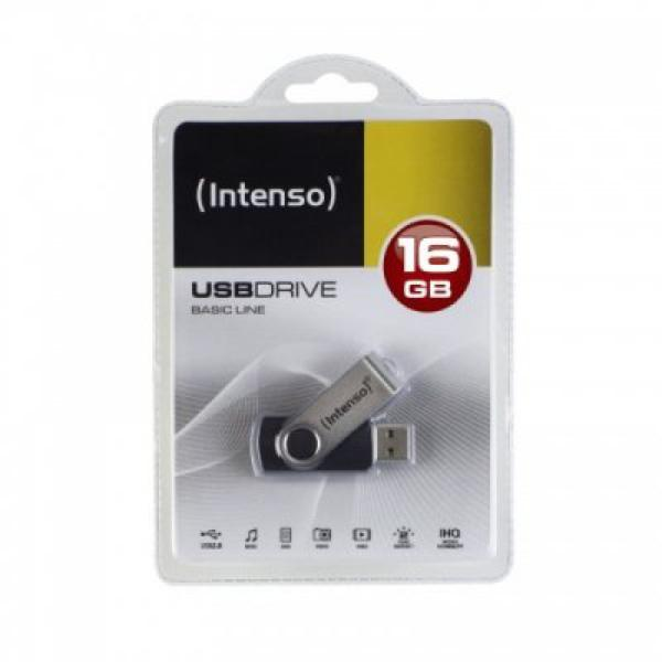 USB-stik INTENSO 3503470 16 GB Sølv Sort