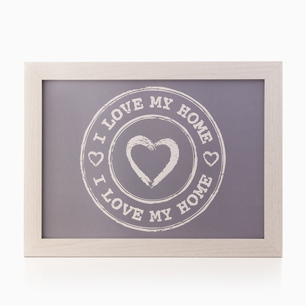 I Love My Home by Homania Bakkepude til Laptop og Tablet