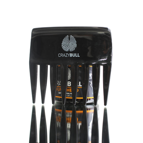 Crazy Bull Limited Edition Black Wide Streaker Comb