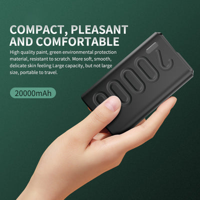 Tofonic Quick Charge 3.0 Charger Type C Pd Powerbank 20000mah  With Led Display For Iphone