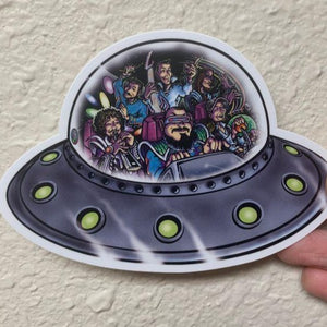 STICKER: Band in UFO