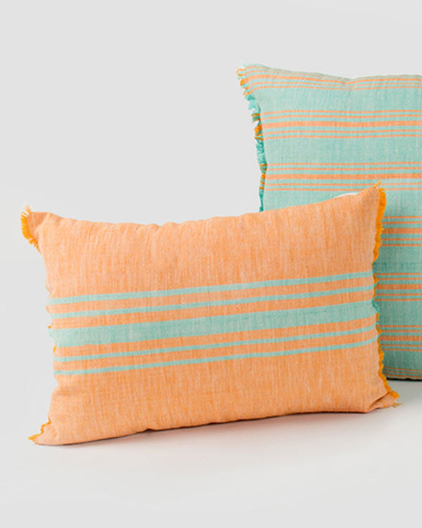 Ber Ber Stripe Pillow - Tangerine