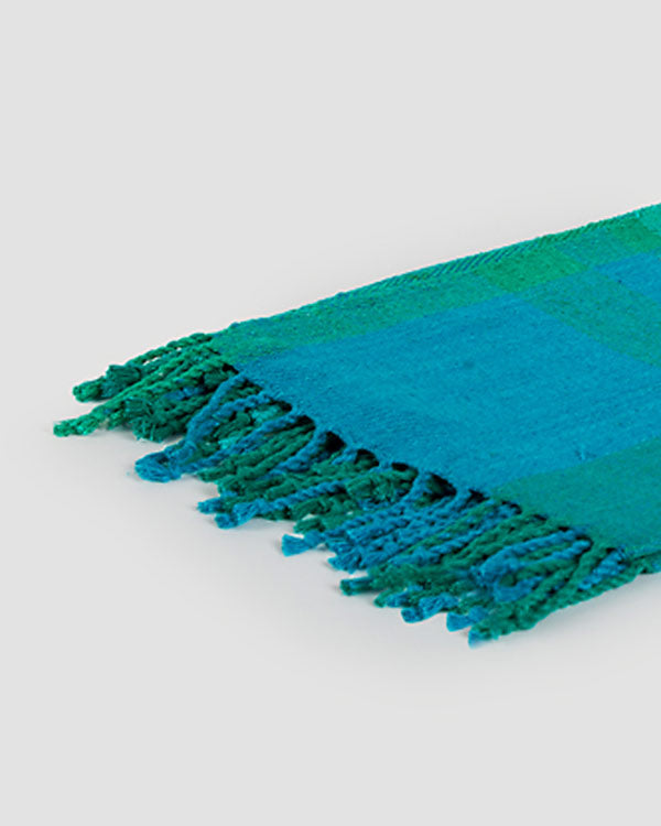 Zanzibar Handloom Throw - Emerald