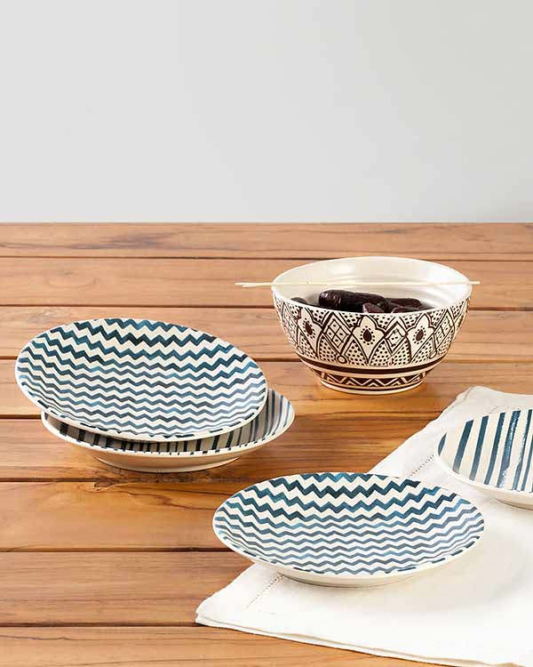 Maasai Tapas Plates (Set of 4)