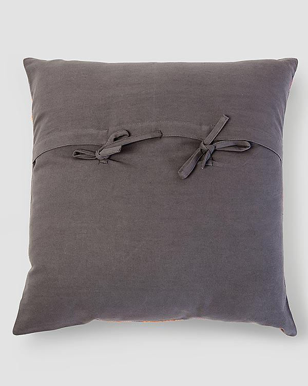Marigold Rose Cushion - Charcoal
