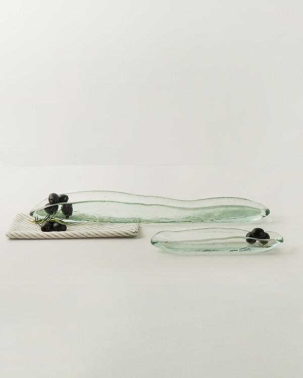 Glass Olive Boat - Large