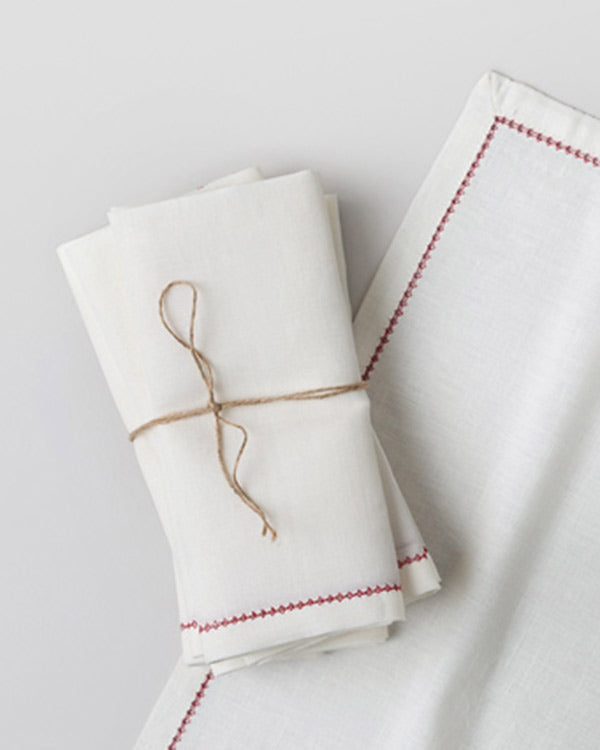 Sakai Dinner Napkins (Set of 6) - Red