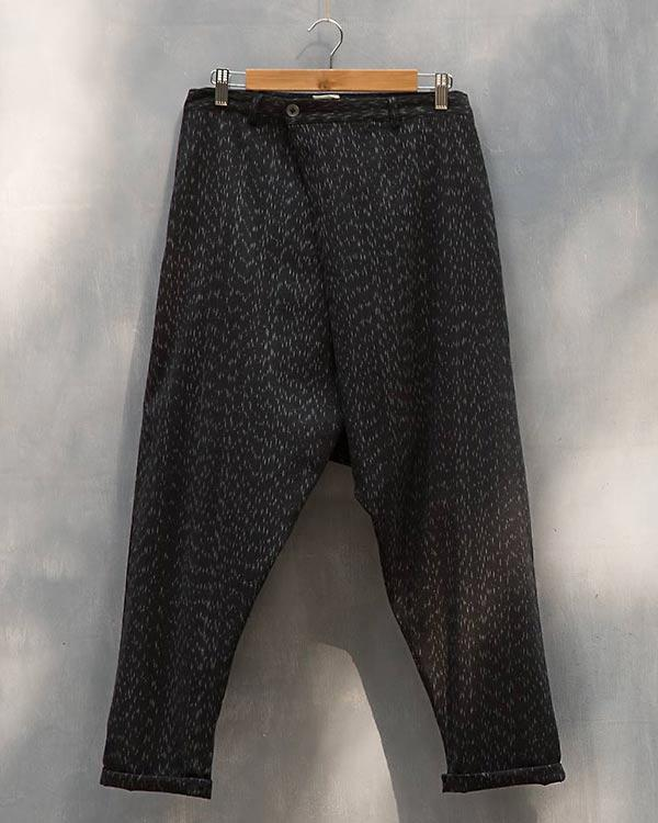 Ikat Slouchy Pants - Black