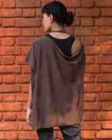 Waterfall Poncho - Brown