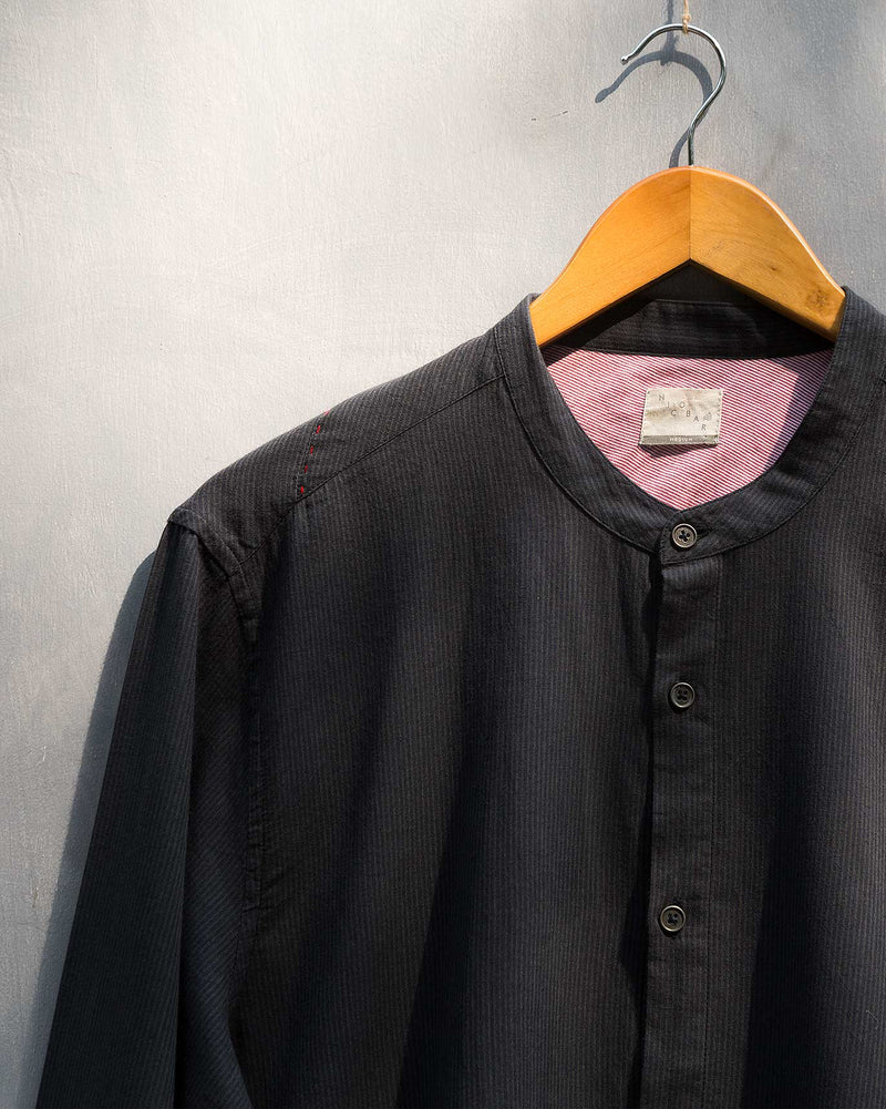 Neil Stripe Shirt - Black & Charcoal