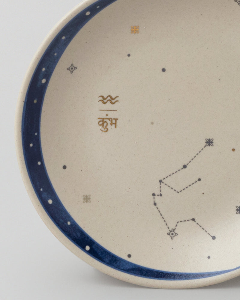 Luna Tea Plate - Aquarius