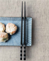 Stripe Black Chopsticks (Set of 2)