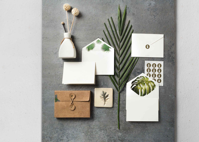 Palm stationery set