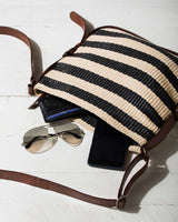 Stripe Crossbody Bag