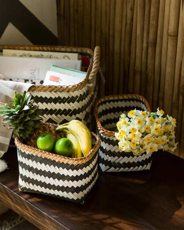 Ceylon Bamboo Basket (Set of 3)