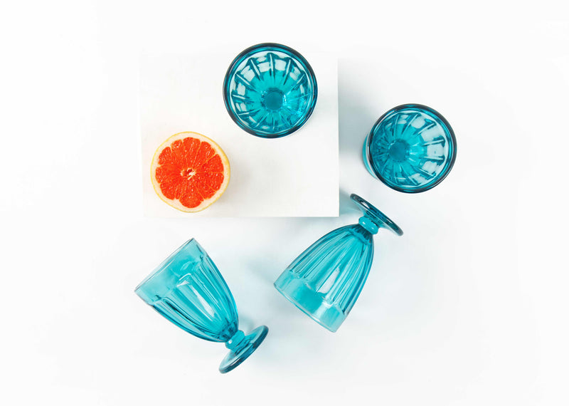 Island Stem Glass (Set of 4) - Teal