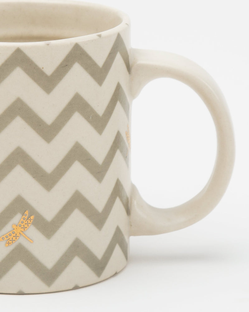 Lily Pond Chevron Mug