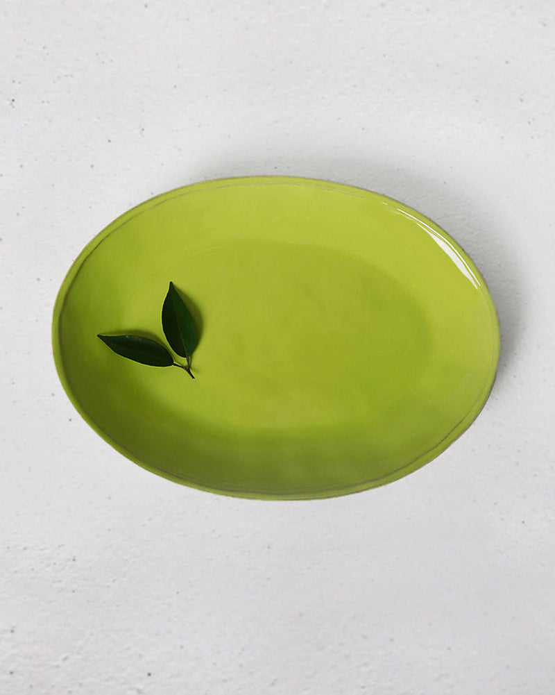 Aguada Oval Platter - Lime