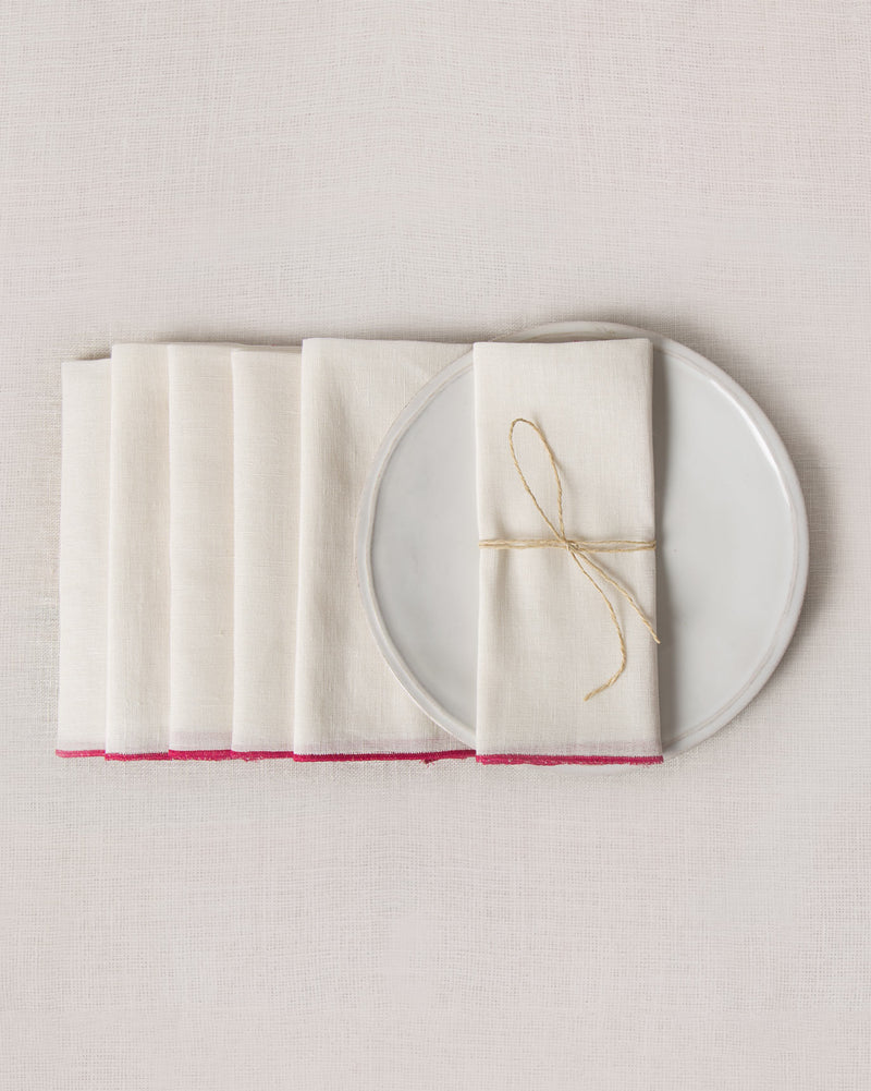 Verandah Dinner Napkins (Set of 6) - Ivory