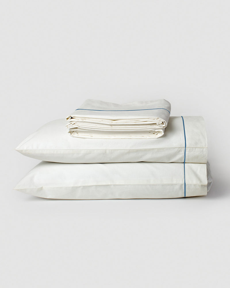Sheet Set With Contrast Emb (Set of 4)