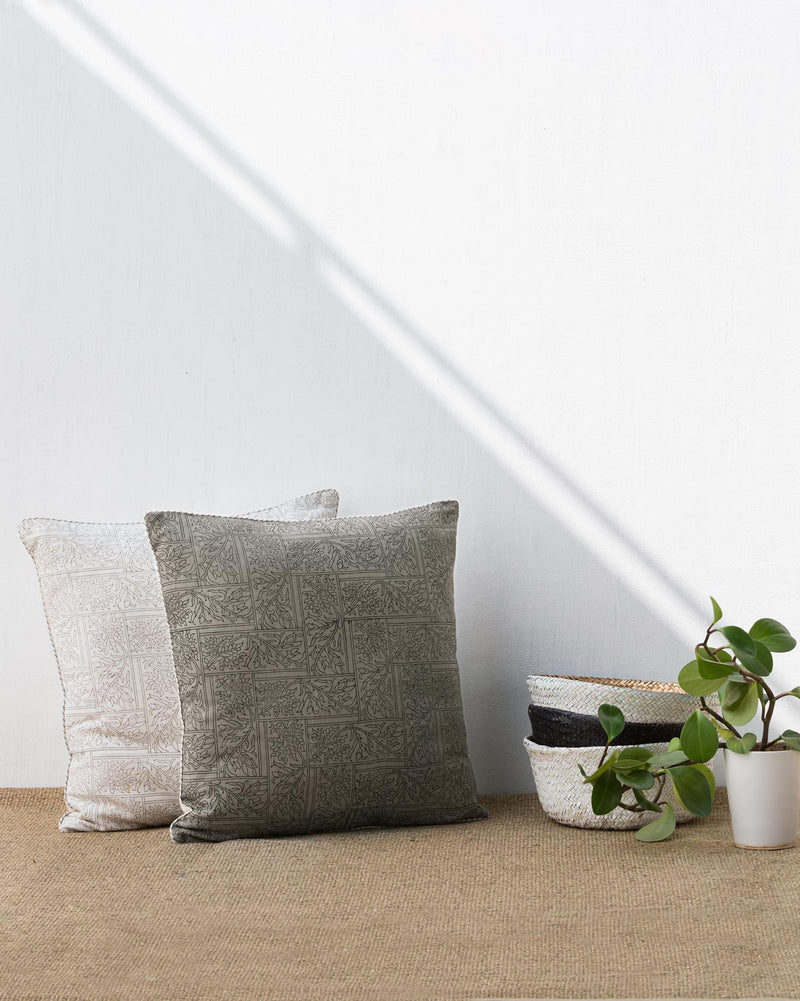 Spice Maze Cushion - Grey