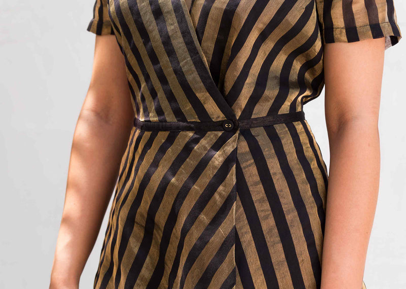 Wrap Stripe Dress