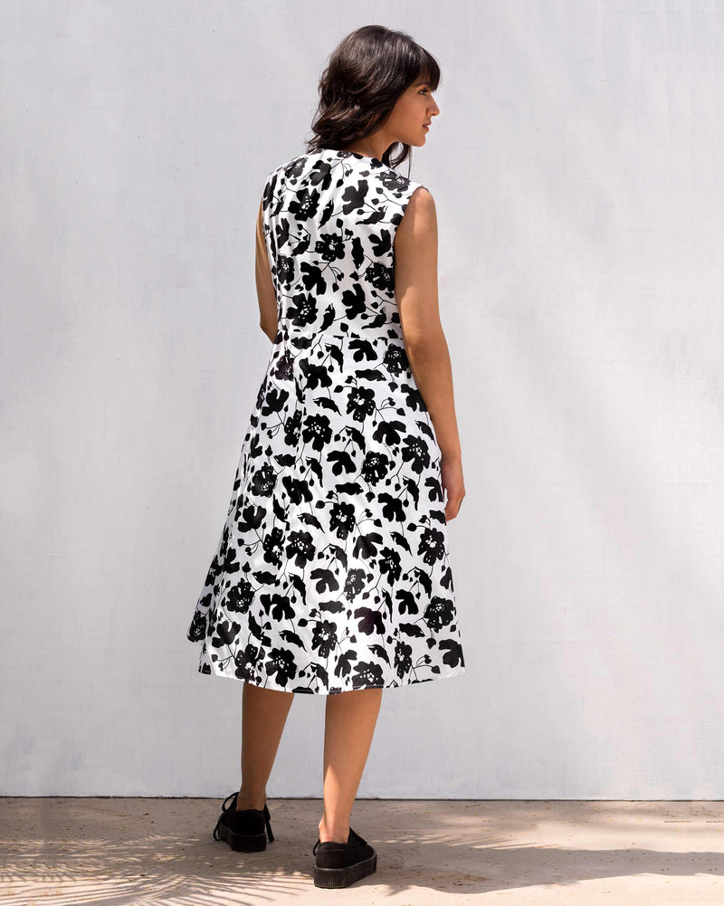 Wrap Dress - Black & White