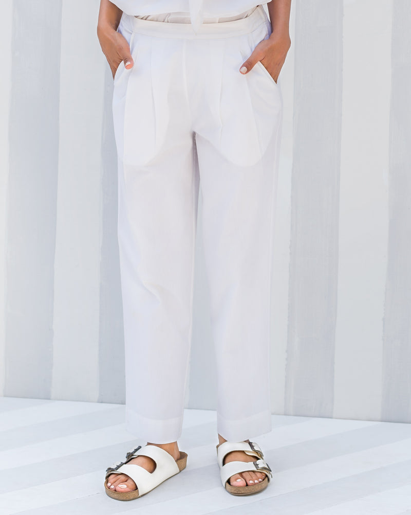 Cigarette Pants - White