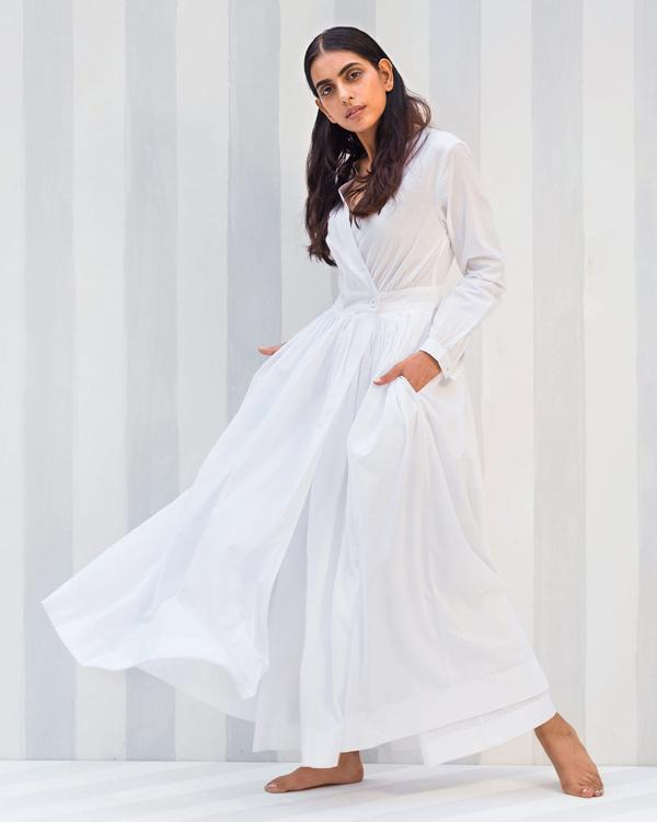 Nico Dress & Pant Set - White