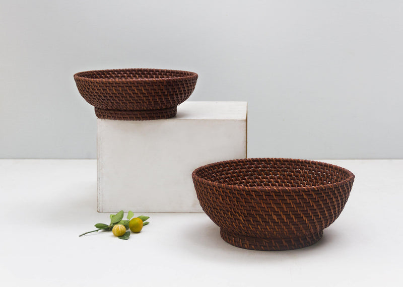 Rattan Fruit Bowl (Set of 2)