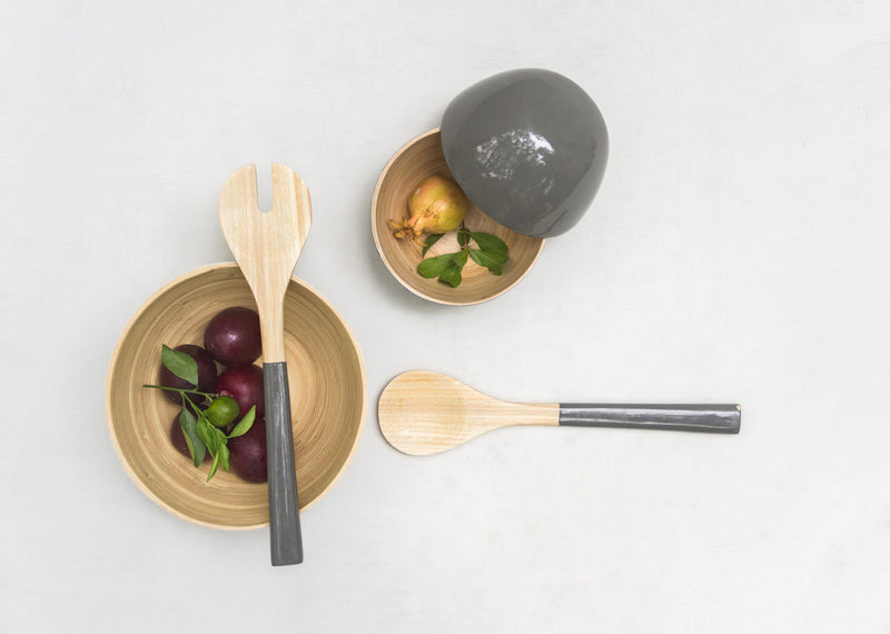 Bamboo Spoons (Set of 2) - Grey