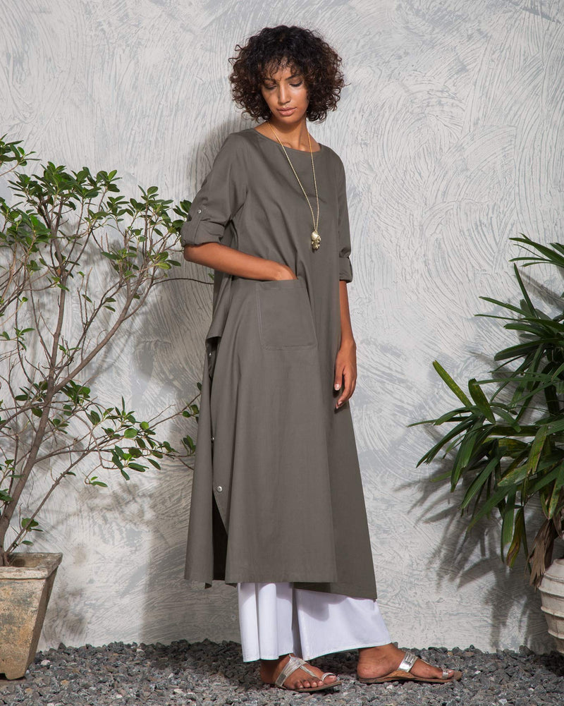 The Drapey Tunic - Charcoal