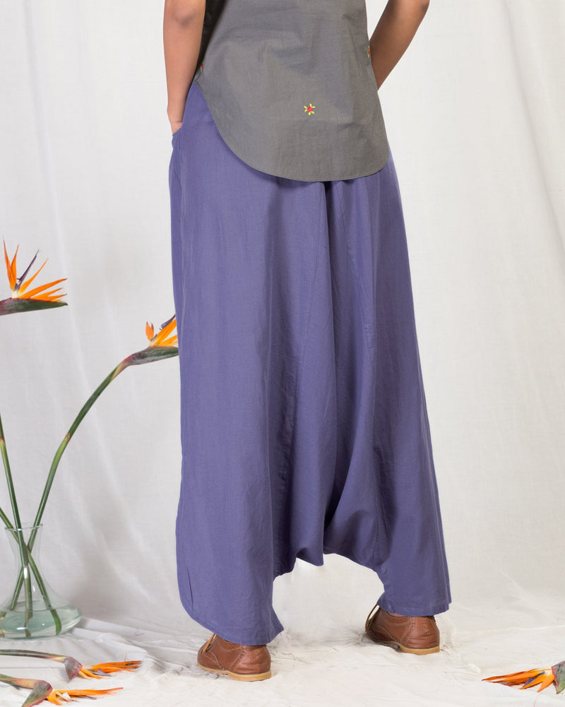 Drop Crotch Pants - Blue