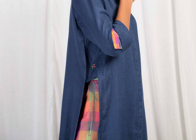 For Many Moons Kurta - Blue