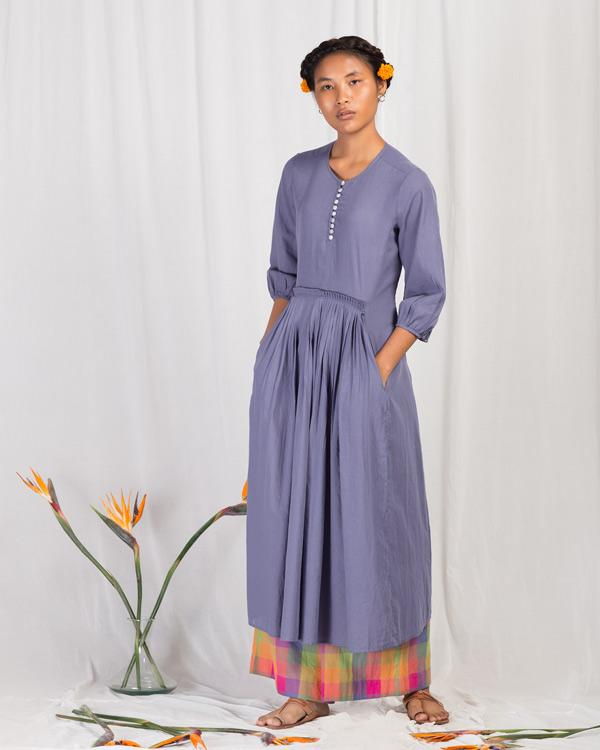 Front Pleat Kurta - Blue