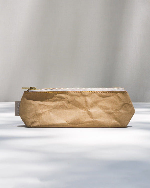Paper Pencil Case - Brown