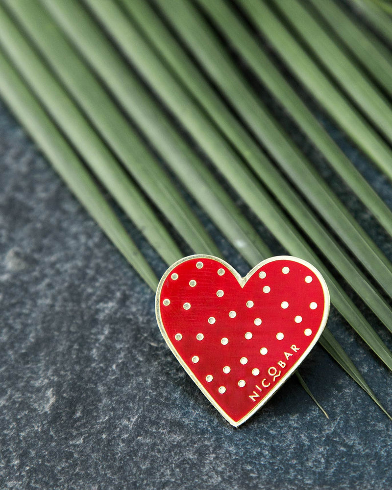 Dotted Heart Pin