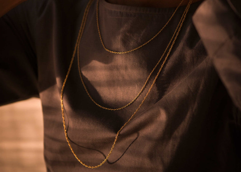 Gold plated chain - large