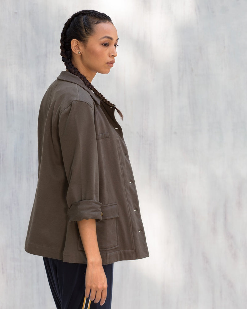 Safari Jacket - Charcoal