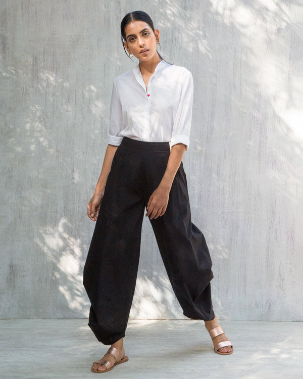 Boat Cropped Pants - Black