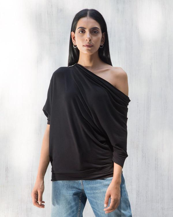 Ukiyo Off Shoulder Top - Black
