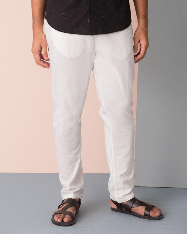 Kurta Pants - White