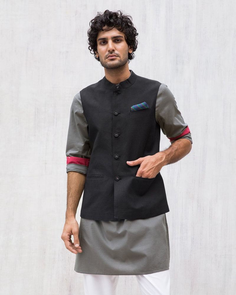 Nehru Jacket - Black