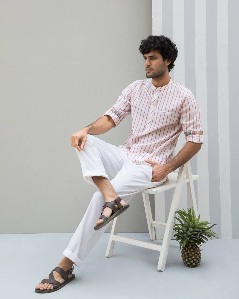 Pondicherry Stripe Shirt - Red
