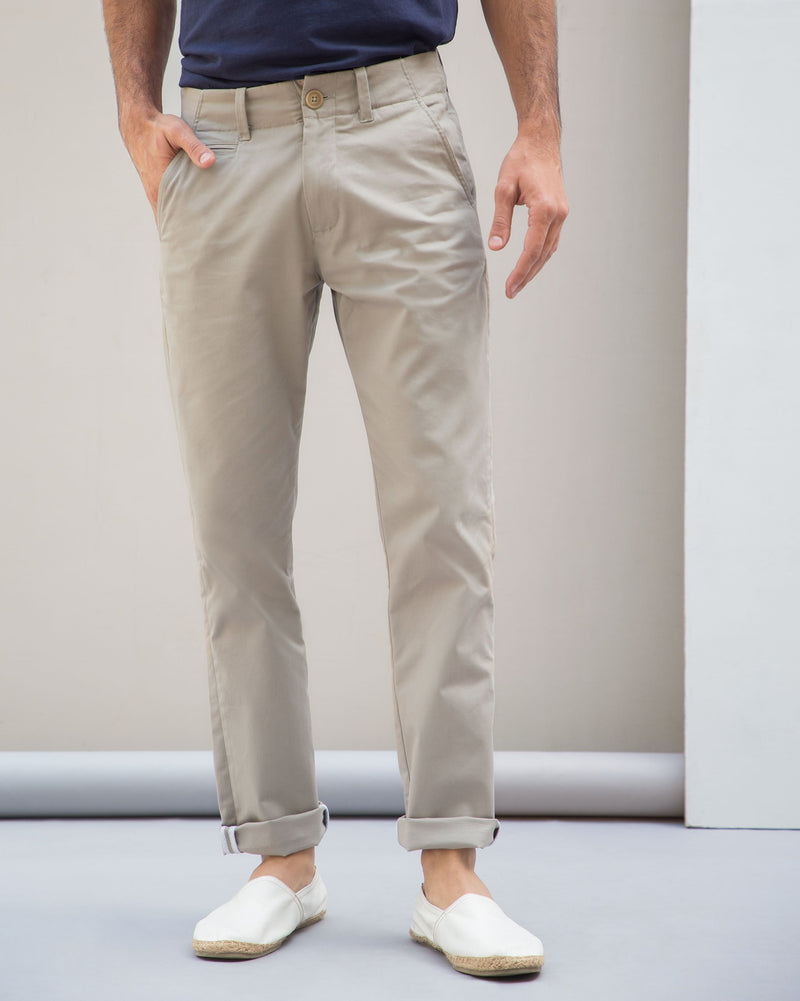 Slim Chinos - Grey