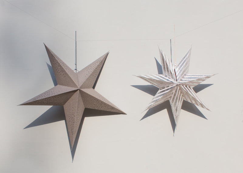 Silver Paper Star (Set of 2)